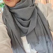 Аксессуары ручной работы. Ярмарка Мастеров - ручная работа Кашемировый шарф серый. Скидка -20%. Handmade.
