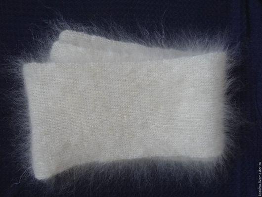 Шарфы и шарфики ручной работы. Ярмарка Мастеров - ручная работа. Купить Шарф пуховый,вязанный, белый. Handmade. Белый