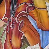 """Аксессуары ручной работы. Ярмарка Мастеров - ручная работа Платок """"Скрипка"""". Handmade."""