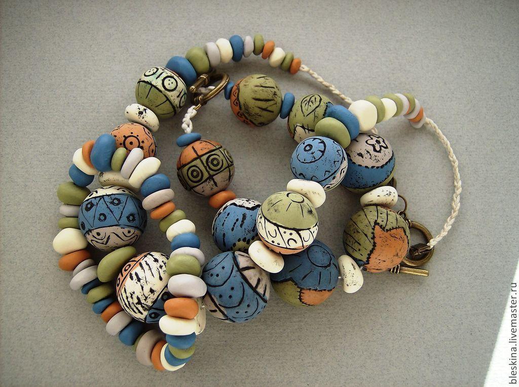 комплект этно, бусы этно, браслеты этно, украшения ручной работы