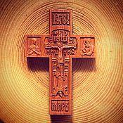 Русский стиль handmade. Livemaster - original item Wood cross. Handmade.