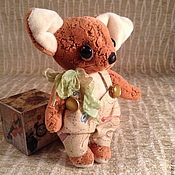Куклы и игрушки ручной работы. Ярмарка Мастеров - ручная работа Лисенок тедди в штанишках. Handmade.