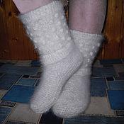 High Boots handmade. Livemaster - original item Women`s knitted high boots `Beads`. Handmade.