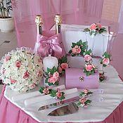 Свадебный салон ручной работы. Ярмарка Мастеров - ручная работа Набор свадебных аксессуаров в розовом цвете. Handmade.