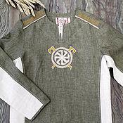 Мужская одежда handmade. Livemaster - original item Combined shirt