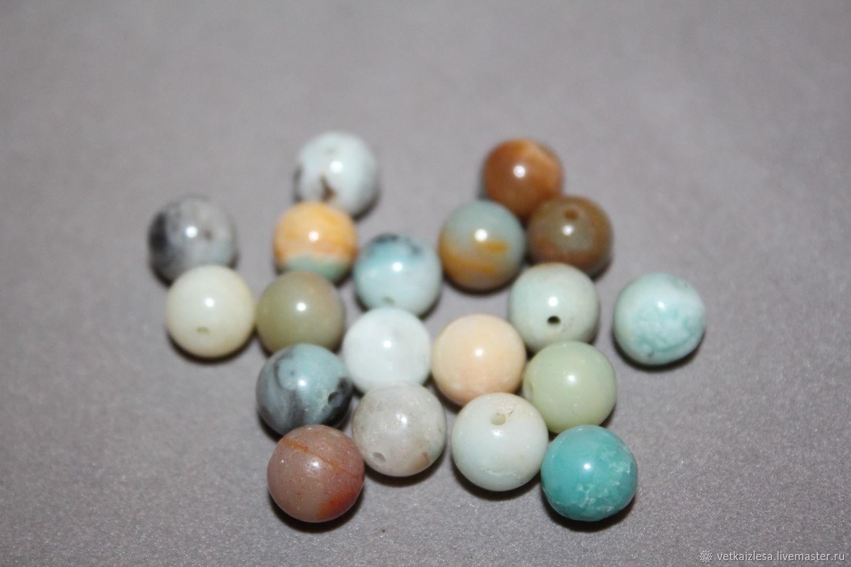 Amazonite (presumably), smooth bead, 8 mm (natural stone)