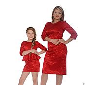 """Одежда ручной работы. Ярмарка Мастеров - ручная работа Одинаковые платья для мамы и дочки """"Изабель"""", комплект. Handmade."""
