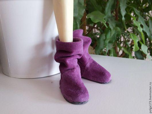 Одежда для кукол ручной работы. Ярмарка Мастеров - ручная работа. Купить Угги для бжд и Тильд. Handmade. Фиолетовый, угги, кожа