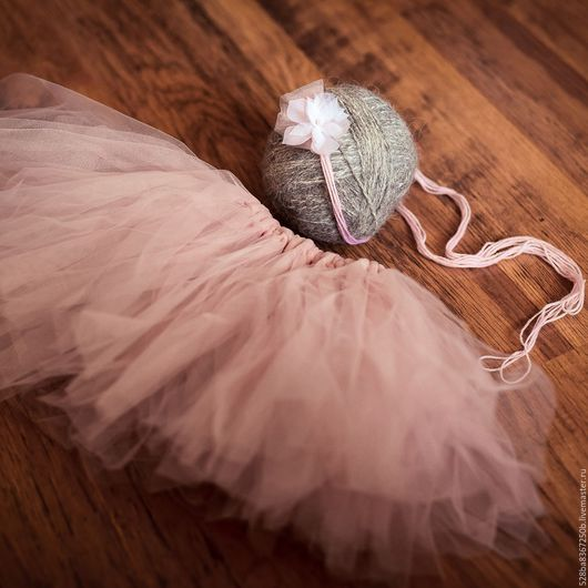 Для новорожденных, ручной работы. Ярмарка Мастеров - ручная работа. Купить юбочка для новорожденных принцесс:-) с повязочкой. Handmade.