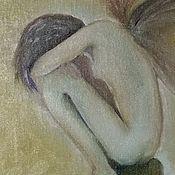 Картины и панно ручной работы. Ярмарка Мастеров - ручная работа Печальный Ангел. Handmade.