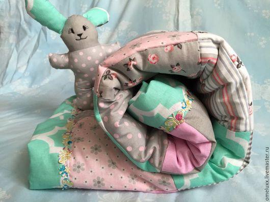 Для новорожденных, ручной работы. Ярмарка Мастеров - ручная работа. Купить Лоскутные детские одеяла. Handmade. Разноцветный, лоскутное одеяло