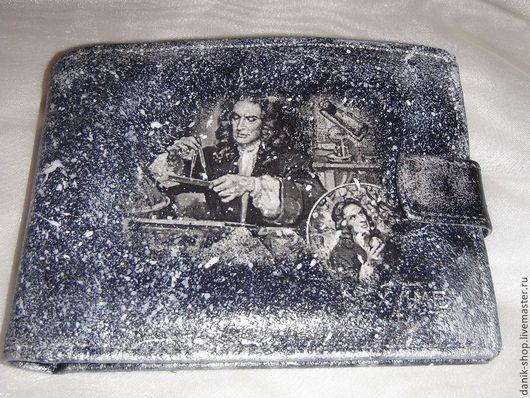 """Кошельки и визитницы ручной работы. Ярмарка Мастеров - ручная работа. Купить Портмоне """"Физика"""". Handmade. Чёрно-белый, кошелек"""