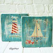 Картины ручной работы. Ярмарка Мастеров - ручная работа Картинки в морском стиле. Handmade.