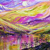 Картины и панно handmade. Livemaster - original item Oil painting of mountains