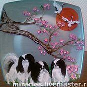 Посуда ручной работы. Ярмарка Мастеров - ручная работа Цветение сакуры.. Handmade.
