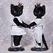 Куклы и игрушки ручной работы. Ярмарка Мастеров - ручная работа Тедди-котик. Handmade.
