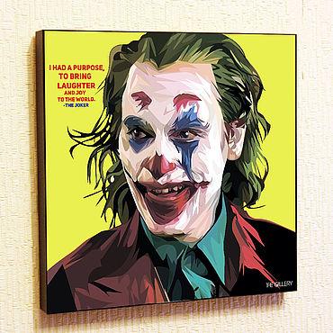Souvenirs and gifts handmade. Livemaster - original item Picture Poster Joker Pop Art. Handmade.