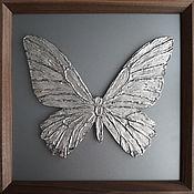 Картины и панно handmade. Livemaster - original item Silver butterfly. Handmade.