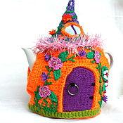 """Для дома и интерьера ручной работы. Ярмарка Мастеров - ручная работа Грелка на чайник """"Оранжевое солнце"""". Handmade."""