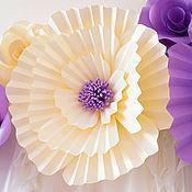 """Свадебный салон ручной работы. Ярмарка Мастеров - ручная работа Бумажные """"вафельные"""" цветы для оформления. Handmade."""