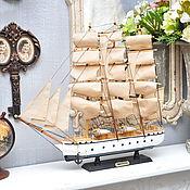 Материалы для творчества ручной работы. Ярмарка Мастеров - ручная работа Модель парусного корабля SIMON BOLIVAR барк ретро. Handmade.