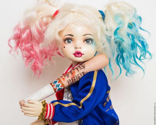 """Коллекционные куклы ручной работы. Ярмарка Мастеров - ручная работа. Купить Игровая кукла """"Харли"""". Handmade. Харли квинн, lairydolls"""