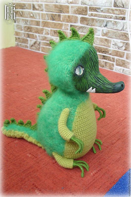 Сказочные персонажи ручной работы. Ярмарка Мастеров - ручная работа. Купить Интерьерная игрушка Крокодильчик 30 см. Handmade.