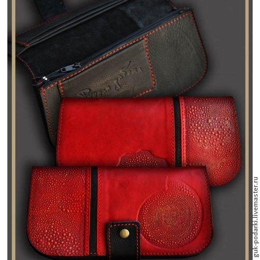 Кошельки и визитницы ручной работы. Ярмарка Мастеров - ручная работа. Купить портмоне (кошелёк) из натуральной кожи 2422 женское. Handmade.