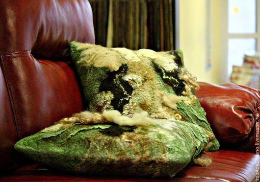 """Текстиль, ковры ручной работы. Ярмарка Мастеров - ручная работа. Купить Интерьерные подушки """"Wild forest"""".. Handmade. Интерьерная подушка"""