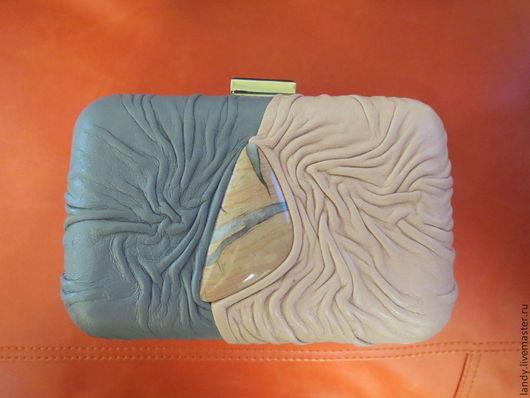 Женские сумки ручной работы. Ярмарка Мастеров - ручная работа. Купить клатч-бокс с розовой яшмой. Handmade. Абстрактный