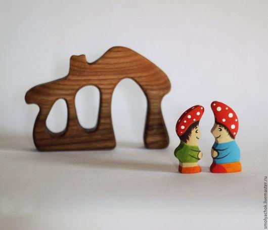 Развивающие игрушки ручной работы. Ярмарка Мастеров - ручная работа. Купить Домик с гномиками. Деревянные развивающие игрушки.. Handmade. Домик