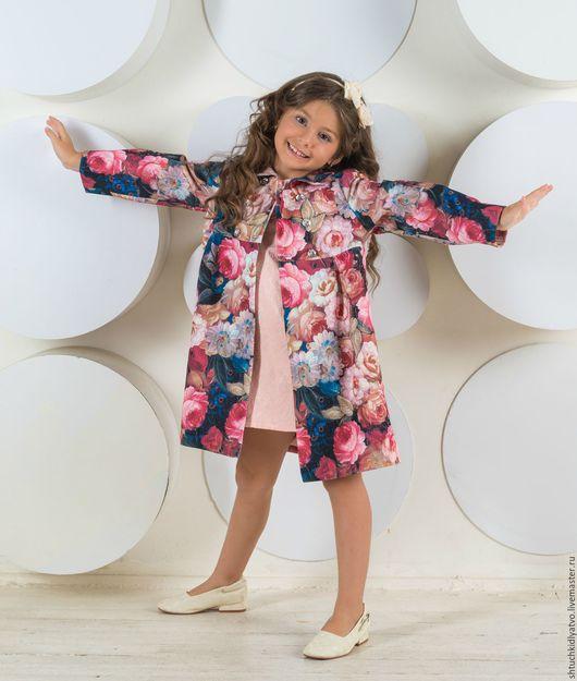 """Одежда для девочек, ручной работы. Ярмарка Мастеров - ручная работа. Купить Пальто летнее """"Пионы"""". Handmade. Комбинированный, одежда для девочек"""