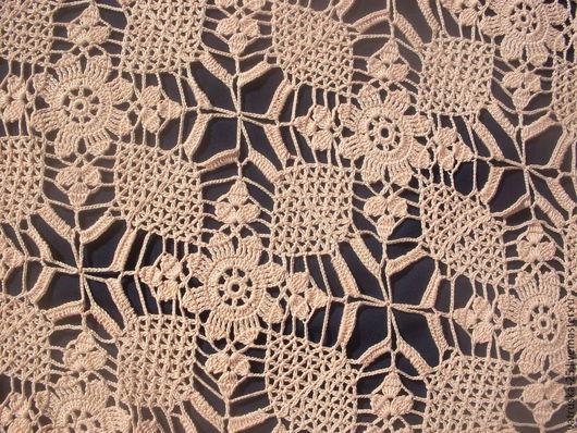 Текстиль, ковры ручной работы. Ярмарка Мастеров - ручная работа. Купить Мини-скатерть, вязаная крючком. Handmade. Бежевый
