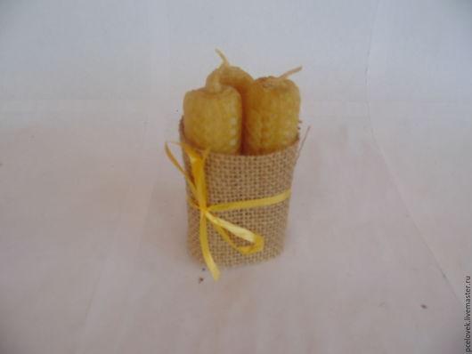 Свечи ручной работы. Ярмарка Мастеров - ручная работа. Купить 3 свечи из вощины... Handmade. Вощина, свечи в подарок