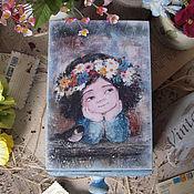 """Для дома и интерьера ручной работы. Ярмарка Мастеров - ручная работа """"Весна""""  короб для хранения. Handmade."""