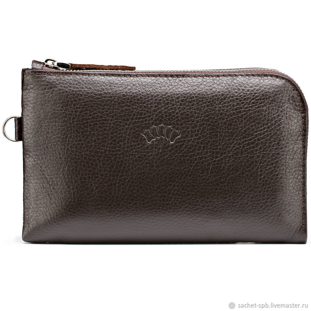 Leather clutch bag 'Logan' (brown), Wallets, St. Petersburg,  Фото №1