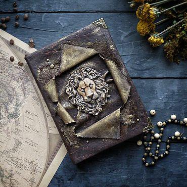 Stationery handmade. Livemaster - original item Vintage notebook with a lion. Handmade.