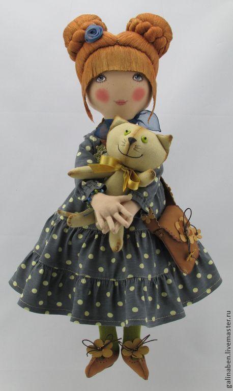 Коллекционные куклы ручной работы. Ярмарка Мастеров - ручная работа. Купить Текстильная кукла Lili. Handmade. Текстильная кукла, текстильная