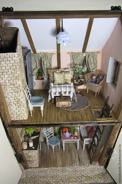 """Кукольный дом ручной работы. Ярмарка Мастеров - ручная работа. Купить Кукольный дом """"Strawberry fields"""". Handmade. Домик, сосна"""