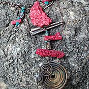 Украшения ручной работы. Ярмарка Мастеров - ручная работа Колье  Алые паруса. Handmade.