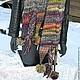 """Шарфы и шарфики ручной работы. Шарф вязаный женский """" Лесная фея"""" 2метра 60см(ручная вязка). Ручное Вязание от Янины. Интернет-магазин Ярмарка Мастеров."""