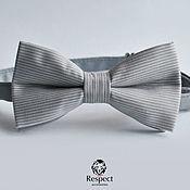 Аксессуары handmade. Livemaster - original item Tie Intellectual / gray tie necktie striped. Handmade.
