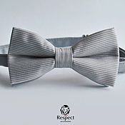 handmade. Livemaster - original item Tie Intellectual / gray tie necktie striped. Handmade.