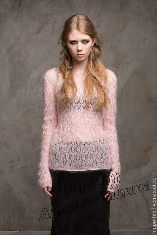 Кофты и свитера ручной работы. Ярмарка Мастеров - ручная работа. Купить Пуловер из легкого мохера. Handmade. Кид мохер, ажур