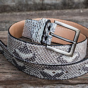 Аксессуары handmade. Livemaster - original item Male / female Python leather belt. Christmas gift. Handmade.