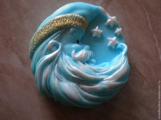 """Мыло ручной работы. Ярмарка Мастеров - ручная работа. Купить Мыло """"Зимний Месяц"""". Handmade. Новогодний сувенир, подарок на рождество"""