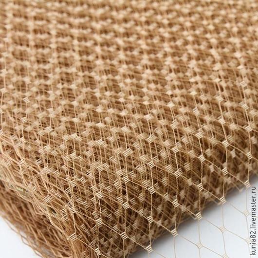Вуаль для шляп цвет ЛАТТЕ полуфабрикат для изготовления шляп и головных уборов. Анна Андриенко. Ярмарка Мастеров.