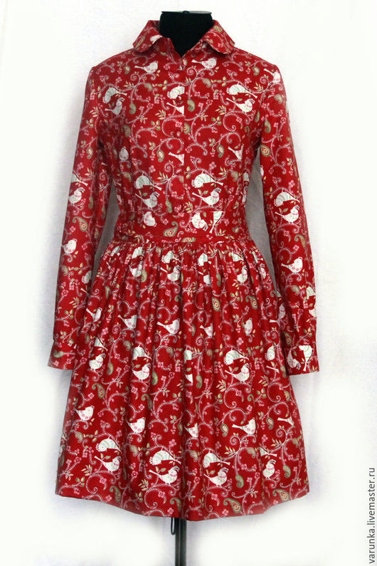 Платья ручной работы. Ярмарка Мастеров - ручная работа. Купить Платье с птичками. Handmade. Рисунок, варвара токарева, Праздник, винтаж