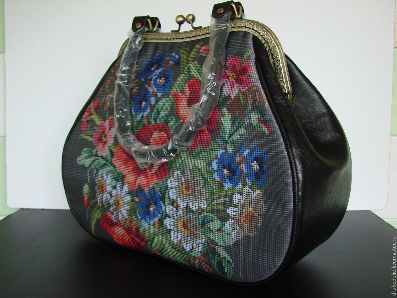 Пошитые сумки под вышивку бисером 6