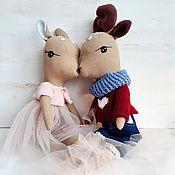 Stuffed Toys handmade. Livemaster - original item Interior textile toy A couple of Fawns. Handmade.